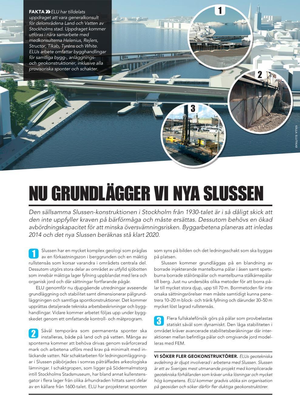 Annons i Samhällsbyggaren och Bygg & Teknik